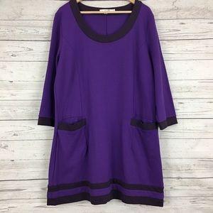 Boden colorblock ponte thick knit shift dress